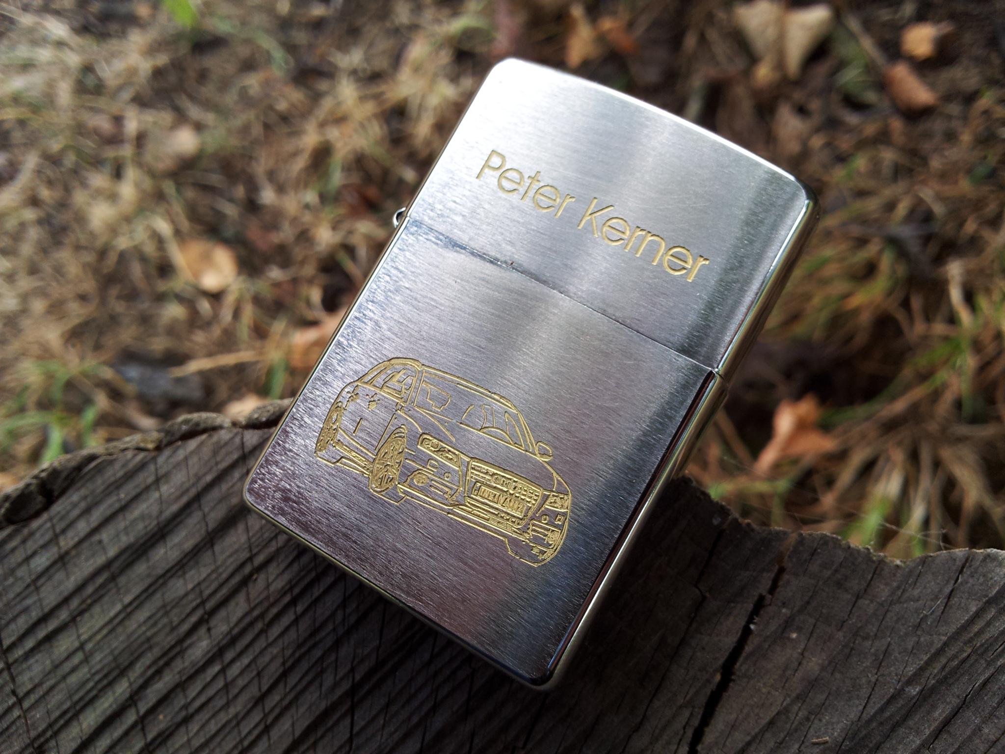 Zapalniczka satin chrome z grawerem mechanicznym